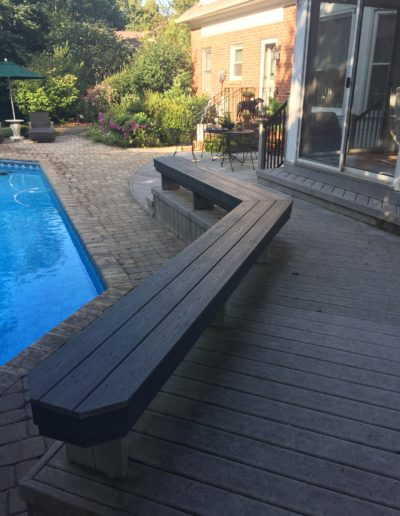 Pool side bench