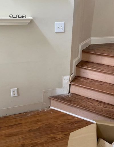 STAIR BASEBOARD BEFORE