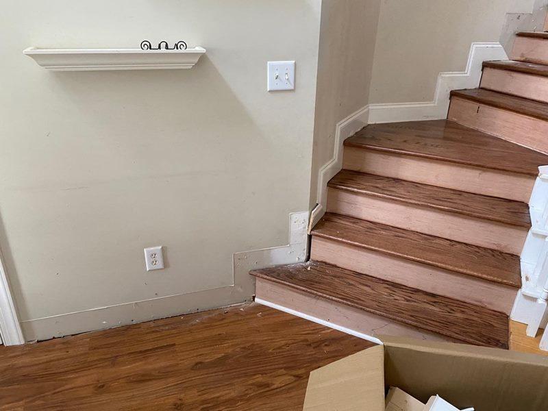 Before-Stair Baseboard